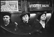 [Subway Passengers, New York City: Three Women in Hats, One Yawning]