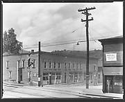 [Main Street, From Across Railroad Tracks, West Virginia]