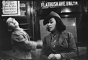 [Subway Passengers, New York City: Mother and Child]