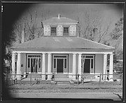 [Building with Paired Doric Columns and Painted Trim Doorways, Louisiana?]