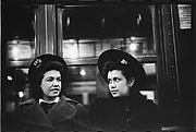 [Subway Passengers, New York City: Two Women in Hats]