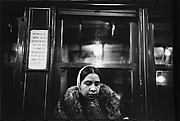 [Subway Passenger, New York City: Woman in Headscarf and Fur Collar]