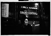 [Subway Passenger, New York City: Older Woman on Times Square Shuttle]