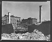 [Garage Demolition Site on York Avenue, New York City]