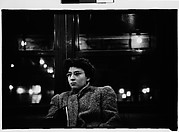 [Subway Passenger, New York City: Young Woman in Eyeglasses and Wool Coat]