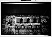 [Magazine Display at Subway Newsstand, New York City]
