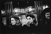 [Subway Passengers, New York City: Three Young Women in Hats]