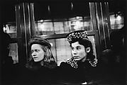 [Subway Passengers, New York City: Two Young Women in Hats]
