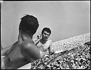 [James Agee and Wilder Hobson, Old Field, Long Island, New York]