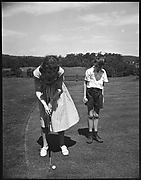 [John Churchill, Jr. and Mary Churchill Playing Golf, Bedford, New York]