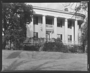 [Greek Revival House with Doric Capitals and Rounded Roof Corners, Macon, Georgia?]