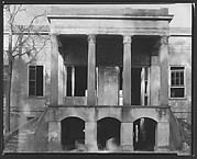 [Façade Detail of Hermitage Plantation House, Near Savannah, Georgia]