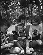 [Emily Workum and Her Children on Lawn, Bedford Village, New York]