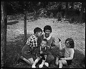 [Emily Workum and Her Children on Lawn, Bedford Village, New York]