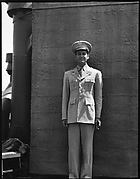 [Unidentified Man in Uniform on Roof of 441 East 92nd Street Apartment Building?, New York City]