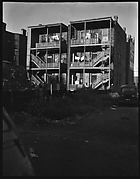 [Rear View of Tenement Buildings and Street, Chicago, Illinois]