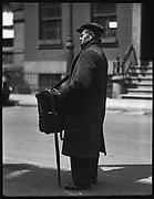 [Organ Grinder Street Musician, Possibly Bethune Street, New York City]