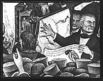 """[Detail of James Polk from """"Expansion"""" Panel of Diego Rivera's Mural for the New Worker's School, New York City]"""