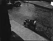 [Knife Sharpener on Ninety-Second Street, From Above, New York City]