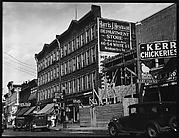 [Street Scene with Construction Site, New York City]