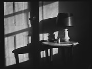 [Lamp on Table in Walker Evans's Apartment, 441 East 92nd Street, New York City]