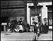[Street Scene in Front of Gas Station and Post Office, Fort Motte, South Carolina]