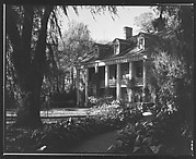 [Brick Greek Revival House with Ivy-Covered Columns, Residence of Weeks Hall, New Iberia, Louisiana]
