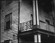 [Second Floor Cast-Iron Balcony Trim, Southeastern U.S.]