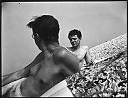 [Wilder Hobson and James Agee on Beach, Long Island, New York]