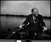 [Karl Bickel in Rowboat, Florida]