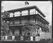 [Italianate Town House with Cast-Iron Balconies, New Orleans, Louisiana?]