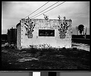 [Concrete Building with Shell and Flower Pot Decoration, Florida]