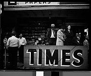 [People at Newspaper Stand, Florida]