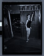 [Ballet Theatre Dancer Practicing at Barre, Metropolitan Opera House, New York City]