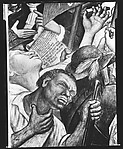 """[Detail of """"Shays' Rebellion"""" Panel of Diego Rivera's Mural for the New Worker's School, New York City]"""