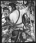 "[""Shays' Rebellion"" Panel of Diego Rivera's Mural for the New Worker's School, New York City]"