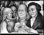"[Detail of ""The American Revolution"" Panel of Diego Rivera's Mural for the New Worker's School, New York City]"