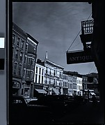 [Main Street with Antiques Sign in Foreground, Galena, Illinois]