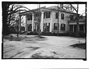 [Greek Revival House with Full-Height Entry Porch, From Car, Mobile, Alabama]