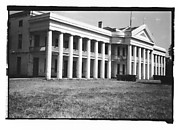 [Large Greek Revival Building with Cross Over Centered Gable, Convent, Louisiana]