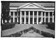 [Façade of Large Greek Revival Building with Lawn Bench in Foreground, Convent, Louisiana]