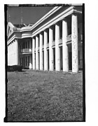 [Façade Detail of Large Greek Revival Building, Convent, Louisiana]