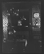 [Interior with Mirror Over Fireplace Mantle]