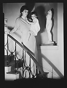 [Jane and Jill Fuller on Stairwell, Bedford, New York]