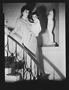 [Jane and Jill Fuller on Stairwell, Bedford, New York]