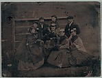 [Group of Eight Men and Women, Including Walker Evans I and Amanda Brooks Evans]