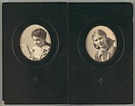 [Two Portraits of Young Girls, Probably Friends of the Evans Family, Mounted Side by Side in Paper Frames]