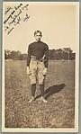 [School Friend of Walker Evans on Football Field, Loomis Institute, Windsor, Connecticut]