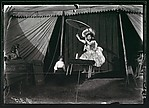 [Nine Portraits of Circus Performers, Including: Acrobats, Tightrope Walker, Horseback Riders, Signs]