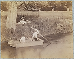 [Two Boys Playing at the Creek, July 4, 1883]